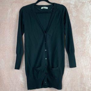 Zara V-Neck Black Cardigan With Pockets